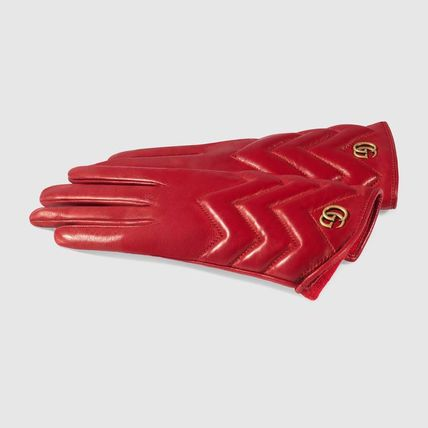 GUCCI Leather & Faux Leather Leather Leather & Faux Leather Gloves 6