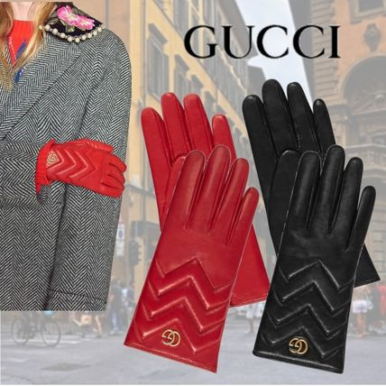 GUCCI Leather & Faux Leather Leather Leather & Faux Leather Gloves