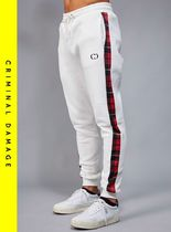 CRIMINAL DAMAGE Other Check Patterns Street Style Joggers & Sweatpants