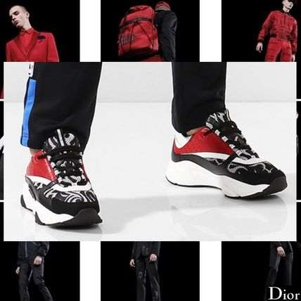 DIOR HOMME 2018-19AW Street Style Plain Leather Sneakers by ... 84f0c6dad44