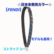 FENDI STRAP YOU Casual Style Blended Fabrics Studded Street Style 2WAY