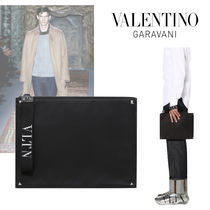 VALENTINO Nylon Plain Clutches