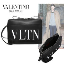 VALENTINO Calfskin Plain Clutches