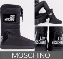 Moschino Rubber Sole Lace-up Casual Style Street Style Plain