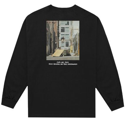 HUF Long Sleeve Crew Neck Pullovers Unisex Street Style Collaboration 3