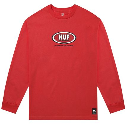 HUF Long Sleeve Crew Neck Pullovers Unisex Street Style Collaboration 4