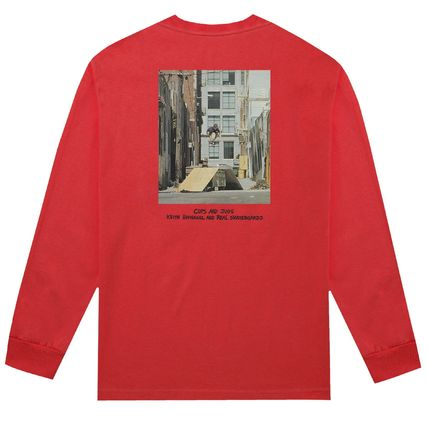 HUF Long Sleeve Crew Neck Pullovers Unisex Street Style Collaboration 5