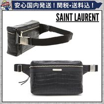 Saint Laurent Plain Other Animal Patterns Leather Hip Packs