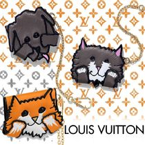 Louis Vuitton EPI Unisex Studded Chain Other Animal Patterns Leather