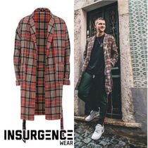 Insurgence Wear Other Check Patterns Wool Street Style Long Oversized Coats