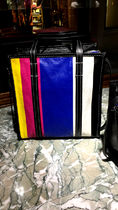 BALENCIAGA BAZAR Casual Style Street Style 2WAY Plain Leather Totes