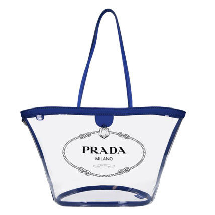 PRADA Totes Casual Style Blended Fabrics Plain Crystal Clear Bags 2