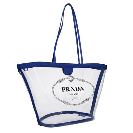 PRADA Totes Casual Style Blended Fabrics Plain Crystal Clear Bags 4