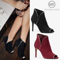 Michael Kors Open Toe Casual Style Plain Leather Pin Heels