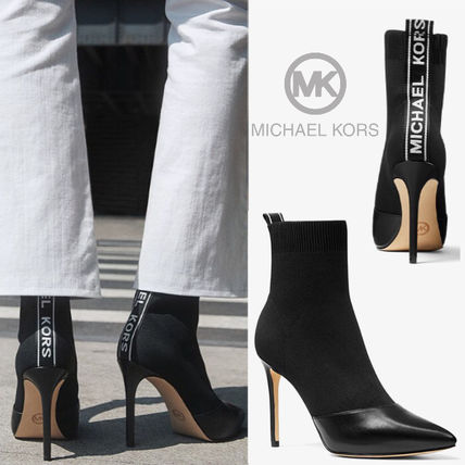 Michael Kors Ankle & Booties Casual Style Plain Pin Heels Ankle & Booties Boots