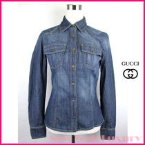 GUCCI Casual Style Denim Long Sleeves Shirts & Blouses