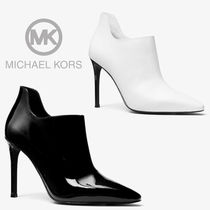 Michael Kors Casual Style Plain Leather Pin Heels Ankle & Booties Boots