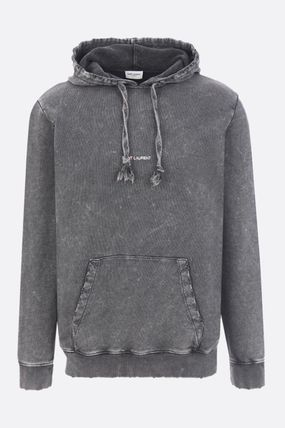 Saint Laurent Hoodies Pullovers Street Style Long Sleeves Plain Cotton Hoodies 2