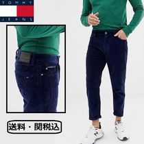 Tommy Hilfiger Tapered Pants Plain Cotton Tapered Pants