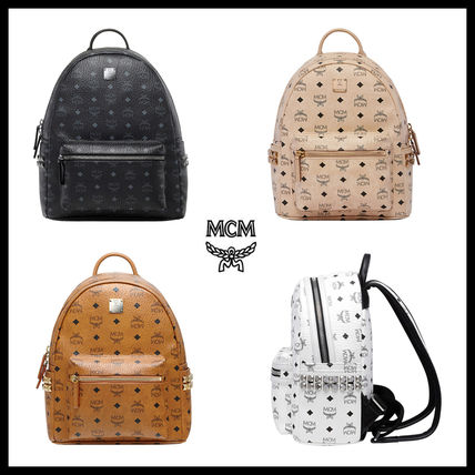 Street Style Leather Backpacks