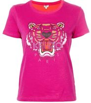 KENZO Crew Neck Other Animal Patterns Cotton Short Sleeves