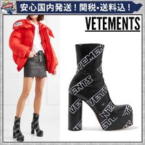 VETEMENTS Platform Round Toe Casual Style Leather