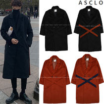 ASCLO Street Style Plain Long Chester Coats