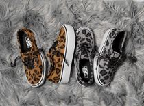 VANS AUTHENTIC Leopard Patterns Platform Casual Style