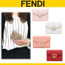 FENDI Calfskin Plain Folding Wallets