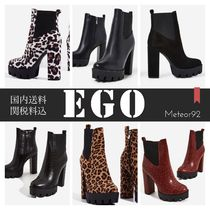 EGO Leopard Patterns Platform Casual Style Street Style Plain