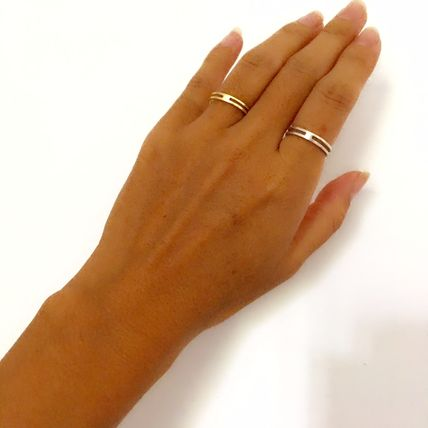 Casual Style Handmade Silver Rings