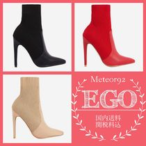 EGO Casual Style Suede Street Style Plain Pin Heels