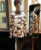 Dolce & Gabbana Unisex Long Sleeves Other Animal Patterns Cotton Shirts