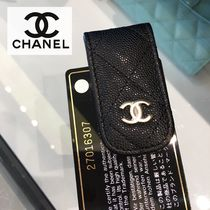 CHANEL Calfskin Plain Wallets & Small Goods
