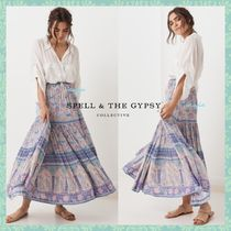 SPELL Flower Patterns Casual Style Maxi Long Maxi Skirts