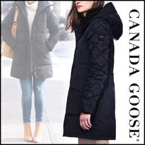 CANADA GOOSE ELWIN Blended Fabrics Plain Long Down Jackets