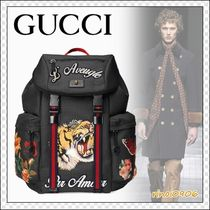 GUCCI Flower Patterns Street Style Other Animal Patterns Backpacks