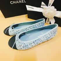 CHANEL Tweed Ballet Shoes