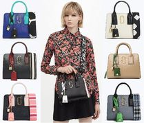 MARC JACOBS Casual Style Street Style 2WAY Bi-color Leather Handbags