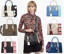 MARC JACOBS Snapshot Casual Style Street Style 2WAY Bi-color Leather Handbags