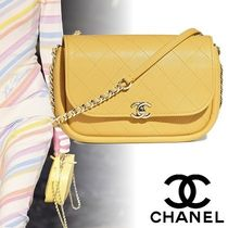 CHANEL Casual Style Lambskin 2WAY Chain Plain Shoulder Bags
