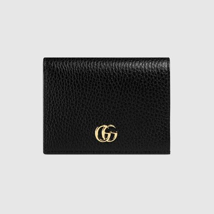 GUCCI Card Holders Plain Leather Card Holders 2