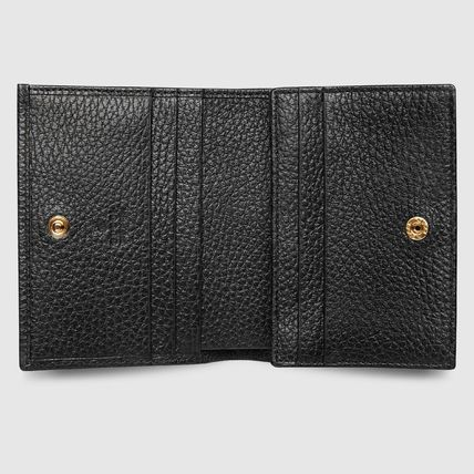 GUCCI Card Holders Plain Leather Card Holders 3