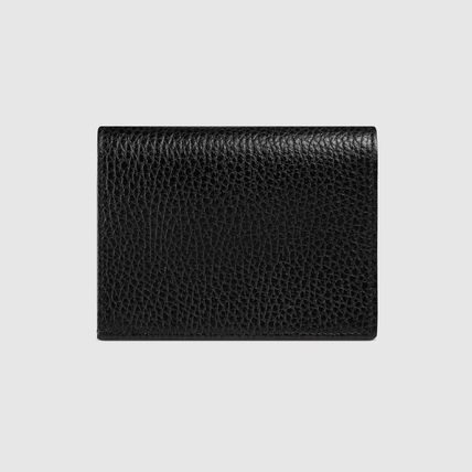 GUCCI Card Holders Plain Leather Card Holders 4