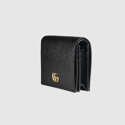 GUCCI Card Holders Plain Leather Card Holders 5