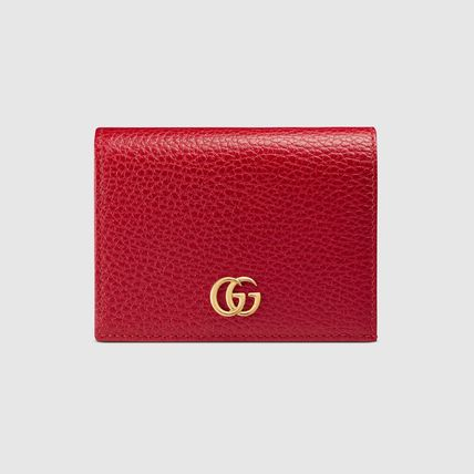 GUCCI Card Holders Plain Leather Card Holders 6