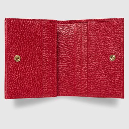 GUCCI Card Holders Plain Leather Card Holders 7