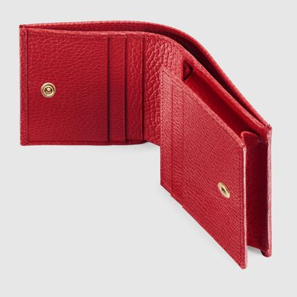 GUCCI Card Holders Plain Leather Card Holders 9