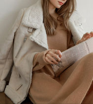 Fur Plain Medium Cashmere & Fur Coats