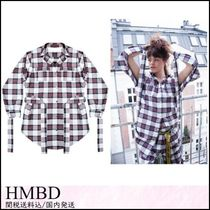 HMBD Tartan Casual Style Street Style Collaboration Long Sleeves